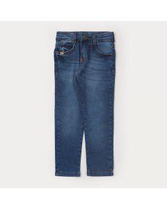 Calça Jeans Skinny Infantil Masculina com Regulagem Interna