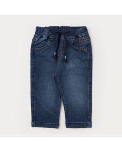 Calça Jeans Jogger para Bebê Menino Azul com Bolso