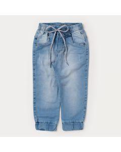 Calça Jeans Jogger para Menino com Elástico na Barra