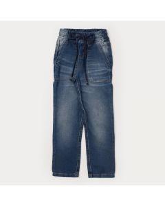 Calça Jeans Jogger Infantil Masculina com Bolso