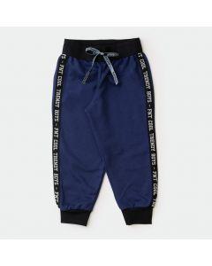 Calça de Moletom Infantil Masculina Azul Marinho