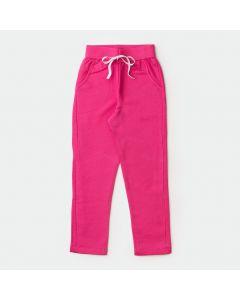 Calça de Moletom para Menina Pink com Bolso