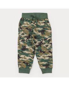 Calça Jogger Verde Militar com Bolso para Menino