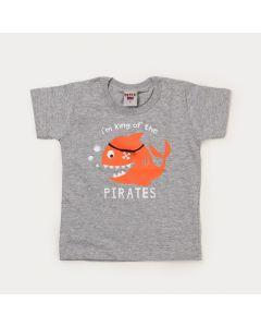 Camiseta Cinza Infantil Menino Peixinho