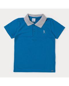 Camisa Polo Infantil Masculina Azul