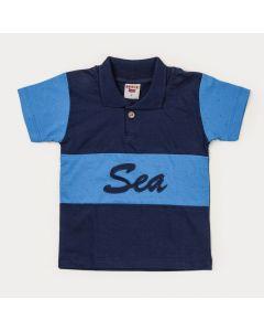 Camiseta Gola Polo Infantil Menino Marinho
