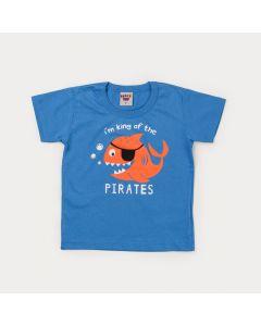 Camiseta Azul Infantil Menino Peixinho