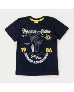 Camiseta Infantil Masculina Marinho Surf