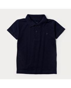 Camiseta Marinho Gola Polo para Menino