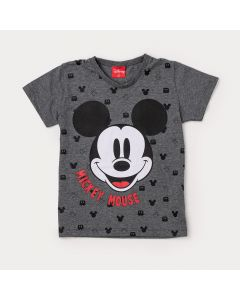Camiseta Infantil Masculina Cinza Mickey Mouse