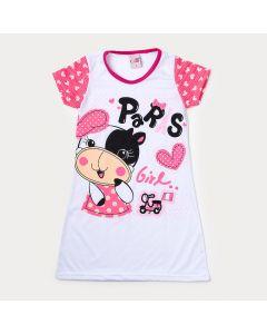 Camisola Infantil Pink Estampada