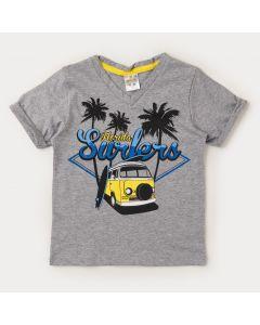 Camiseta Cinza Infantil Masculina Kombi