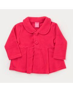 Casaco em Soft Pink para Bebê Menina com Botões