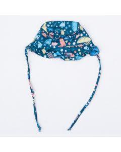 Chapéu com Proteção UV 50+ Bebê Menino Marinho Peixinhos