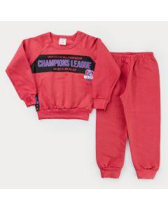 Conjunto de Inverno para Menino Casaco e Calça Vermelha