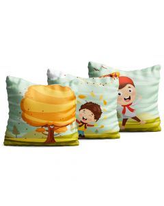Kit com 3 Almofadas Decorativas Infantil Little Boys