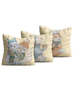 Kit com 3 Almofadas Decorativas Infantil Pets