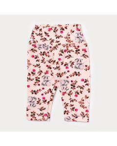 Legging para Bebê Menina Rosa Floral