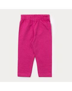 Legging Bebê Menina em Cotton Pink