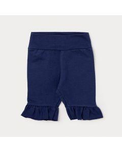 Legging Capri para Bebê Azul Marinho com Elástico