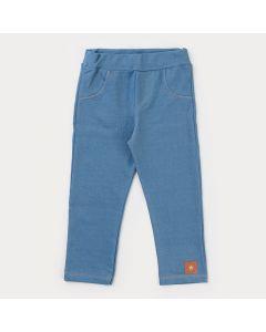 Legging em Cotton Jeans Azul para Menina