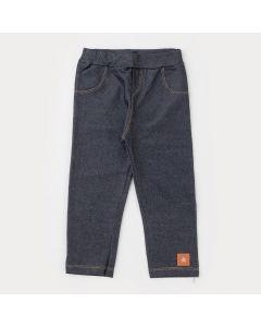 Legging em Cotton Jeans Preta para Menina