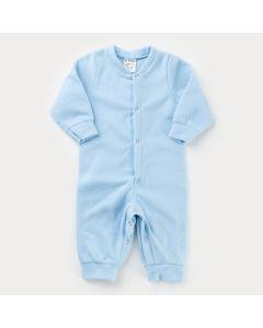 Macacão Azul em Soft para Bebê Menino com Botão de Pressão