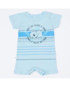 Macaquinho Azul Coala para Bebê Menino