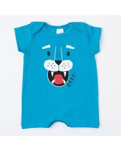 Macaquinho de Verão Azul Tigre para Bebê Menino