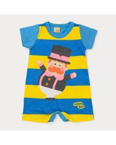 Macaquinho Azul para Bebê Menino Mundo Bita