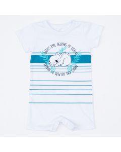 Macaquinho Branco Coala para Bebê Menino