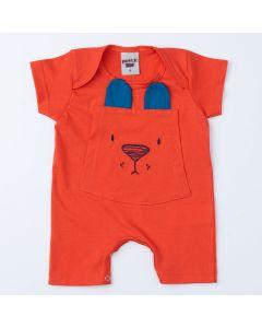 Macaquinho Laranja Ursinho para Bebê Menino