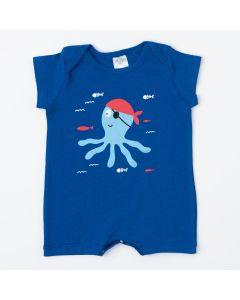 Macaquinho de Verão Marinho Polvo para Bebê Menino