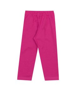 Calça Infantil 4-8 Pimentinhas Legging em Cotton Pink