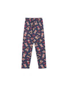 Calça Infantil 4-8 Pimentinhas Legging em Cotton Estampado Marinho