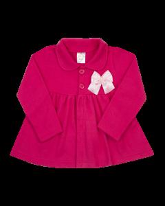 Casaco Infantil com Lacinho Em Soft Rosa