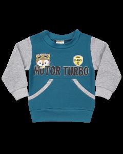 Casaco Bebê Motor Turbo com Bolso Em Moletom Verde Oliva