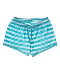 Shorts Infantil Listrado Azul e Branco