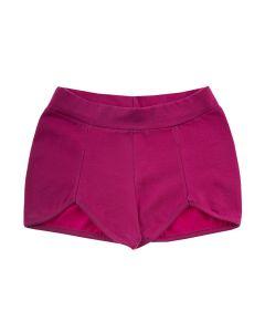 Shorts Infantil com Recorte em Cotton Pink
