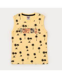 Regata Infantil Masculina Amarela Coqueiros