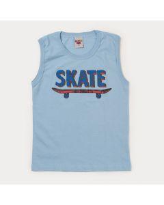 Regata Infantil Masculina Azul Skate