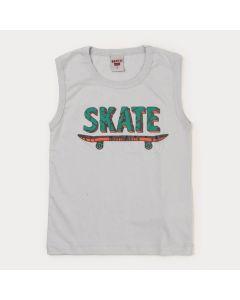 Regata Infantil Masculina Cinza Skate