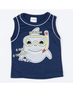 Regata Marinho Tubarão Interativo para Bebê Menino