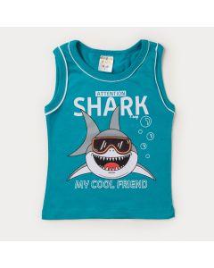 Regata Verde para Menino Tubarão