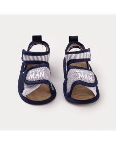 Sandália para Bebê Menino Azul Marinho Estampado