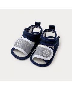 Sandália de Bebê Menino Azul Marinho Estampado