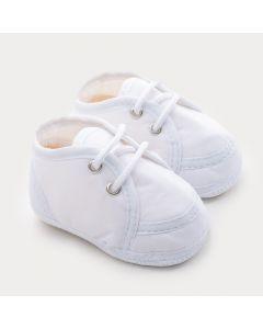 Sapatinho Branco para Bebê Unissex com Cadarço