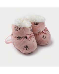 Sapatinho Pantufa Bebê Menina Rosa Princesa
