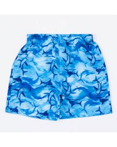 Short em Tactel Azul Tubarão para Menino