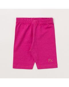 Short Infantil Feminino Pink em Cotton
